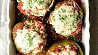 Italian Beef and Farro Stuffed Peppers