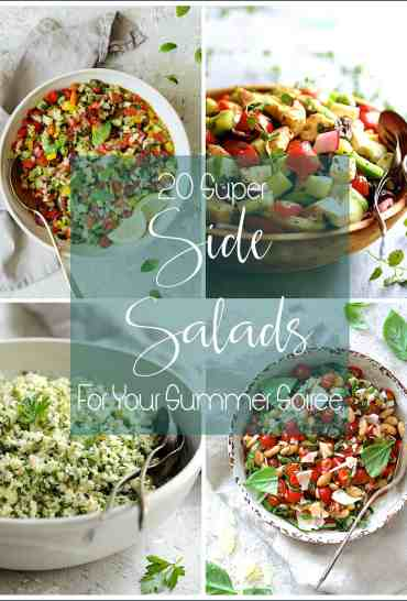 Cover photo of four salads