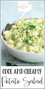 Pinterest Image for Cool & Creamy Potato Salad