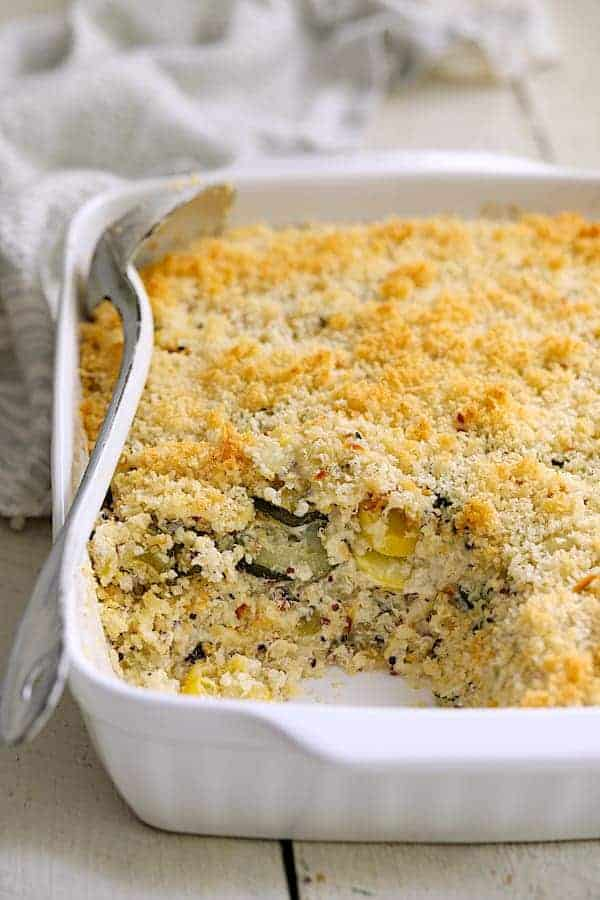 Zucchini Yellow Squash and Quinoa Casserole
