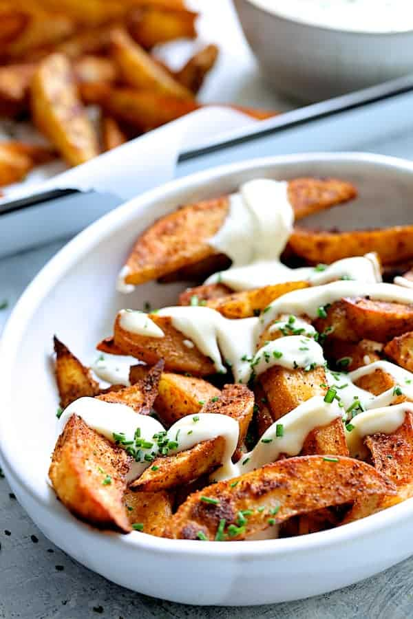 Old Bay Roasted Potato Wedges With Vermont Cheddar Cheese
