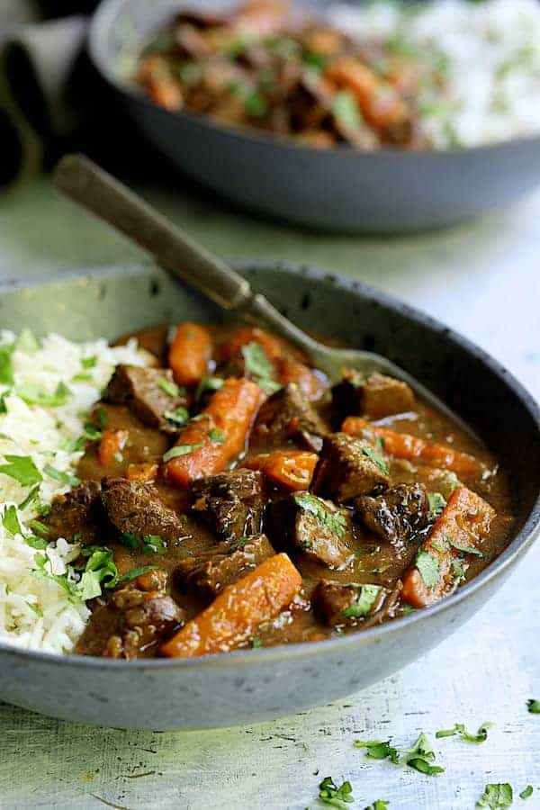 Pressure Cooker Indian Beef Curry Beef Stew