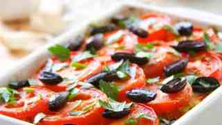 Brown Rice and Summer Vegetable Casserole with Feta and Black Olives