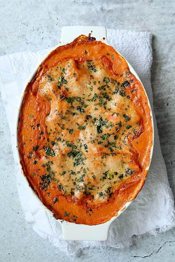 Shrimp Scallop and Artichoke Lasagna