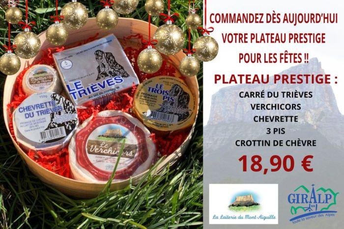 Plateau de fromage prestige pour les fêtes et noël
