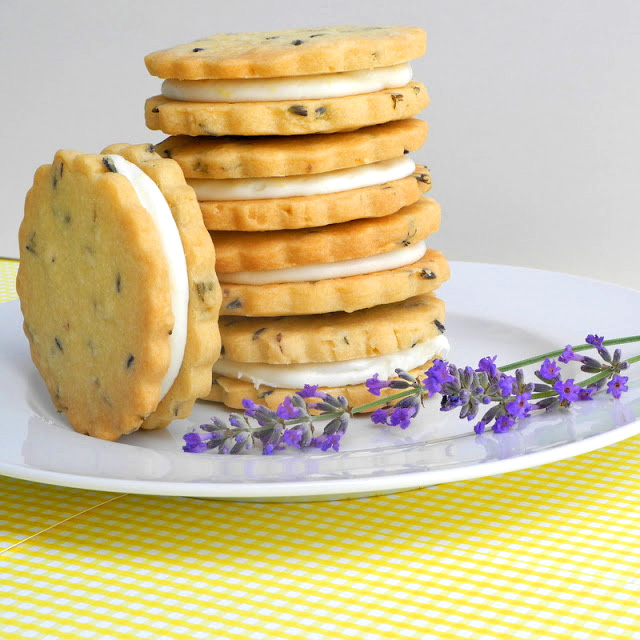 lemon filled lavender shortbread