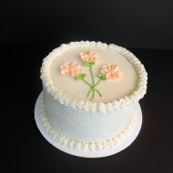 Peaches and Cream Cake for My Mother's Birthday