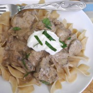 Freezable Slow Cooker Beef Stroganoff