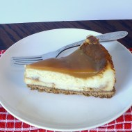 Salted Caramel White Chocolate Cheesecake