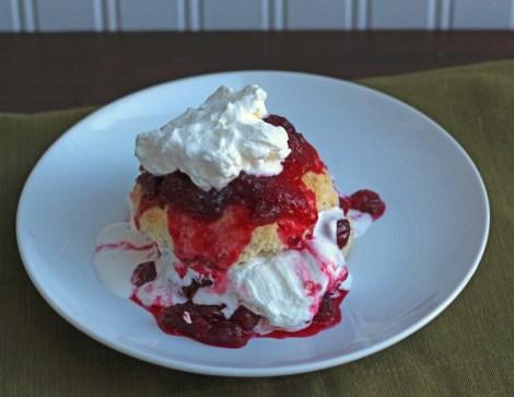 Warm Cranberry Shortcake