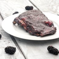 Smoked Pork Spare Ribs with Blackberry Citronge Glaze