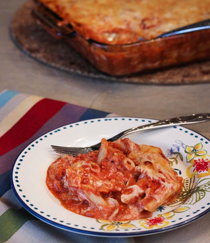 Healthier Baked Penne