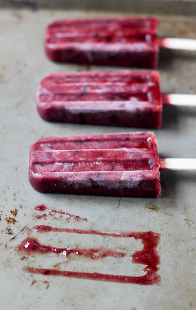 Plum Sorbetto Ice Pops