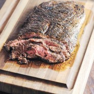 Coffee Rubbed Flank Steak for Man Food Mondays