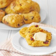 Sweet Potato Cranberry Biscuits