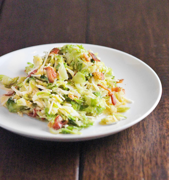 Wilted Brussels Sprouts Salad