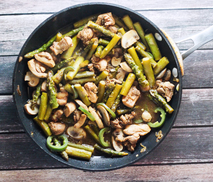 Balsamic Sauteed Chicken and Asparagus