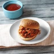 BBQ Pulled Pork Crock Pot Style for Man Food Mondays