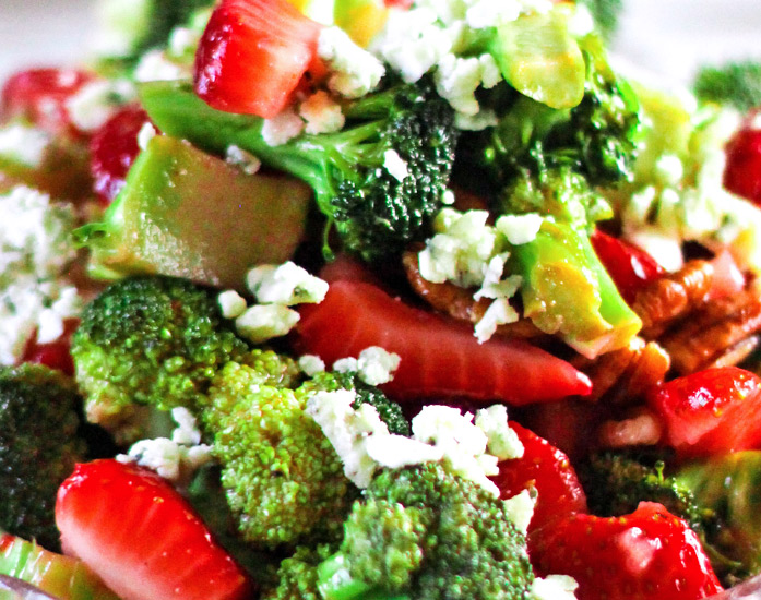 Strawberry and Broccoli Salad