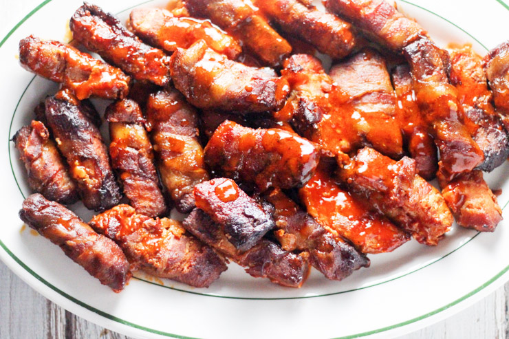 Bacon Wrapped Buffalo Pork Loin Fingers
