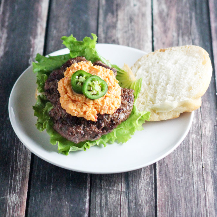 Pimento Cheese and Jalapeno Hamburgers