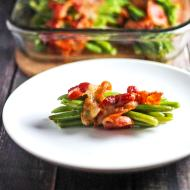 Green Beans wrapped in Bacon for Man Food Mondays