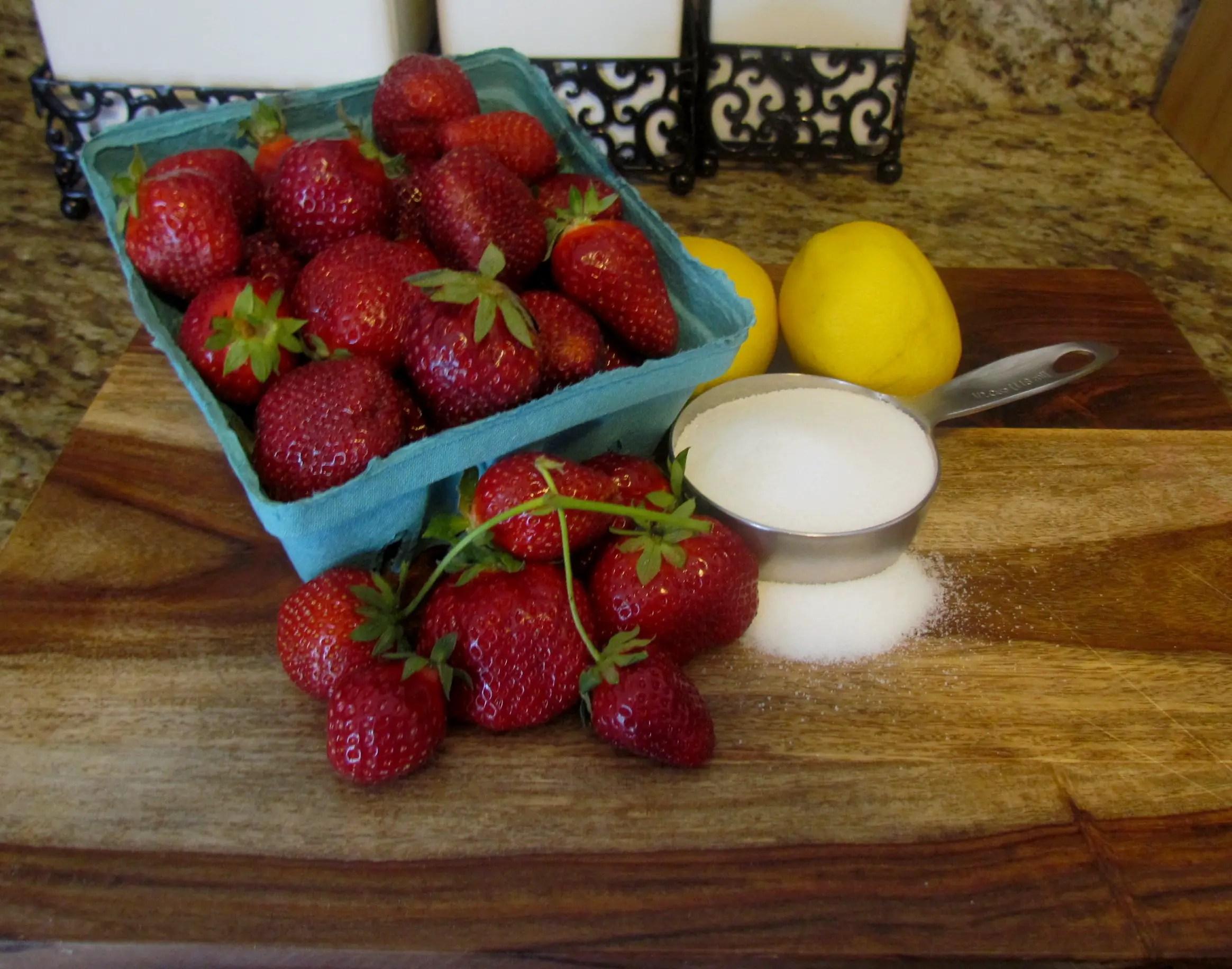 Southern Strawberry Lemonade Granita