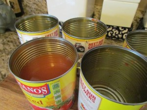 Rinsed Cans