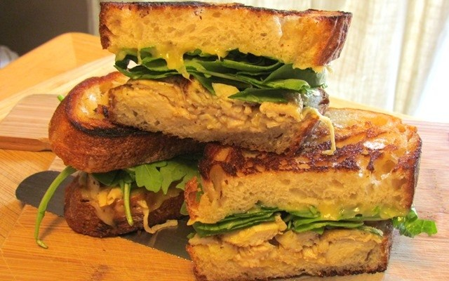 Grilled Honey Dijon Chicken Shallot Bread Sandwich