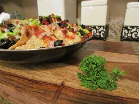 Spicy Sausage Pizza Nachos