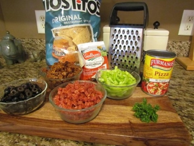 Pizza Nachos Ingredients