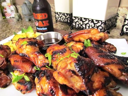 Pineapple Teriyaki Grilled Chicken Wings