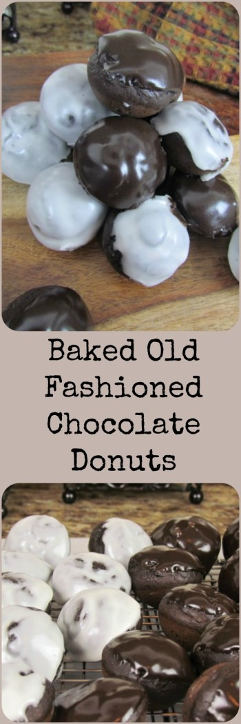 Baked Old Fashioned Chocolate Donuts