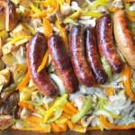 Italian Sausage Potato Sheet Pan Dinner