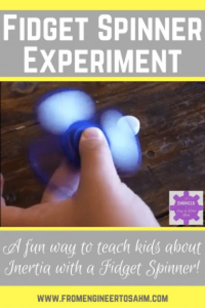 Fidget Spinner Science Experiment | Inertia Experiment for Kids | Fidget Spinner STEM