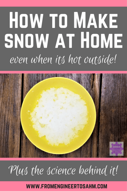 How to Make Snow with your kids, even when its hot outside! | Making snow for kids | Simple Snow Science Experiment