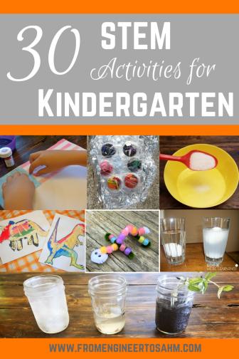 30 Hands-on STEM Activities for Kindergarten | Fun Elementary STEM Activities!