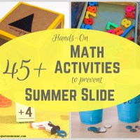 45+ Hands-on Fun Math Activities to Prevent Summer Slide!