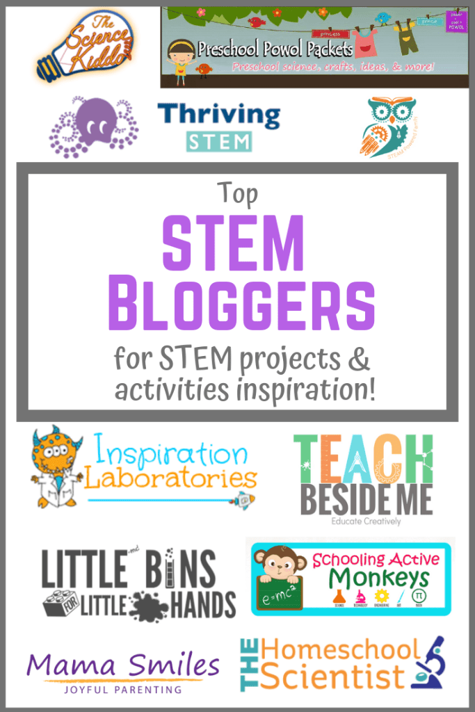 Find the best STEM activities and projects from the top STEM bloggers! From preschool to high school, you'll find STEM projects for any age!