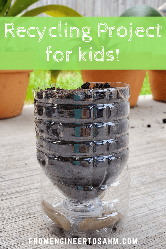 A great recycling project for kids! Recycle water bottles & toilet paper rolls to make starter seed pots.