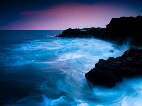 """Southern Kailua Kona coastline by """"End of the World"""" cliff jumping spot"""