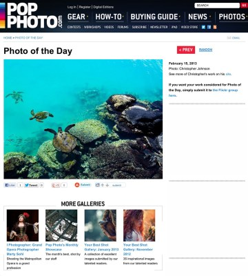 Popular Photography Magazine Photo of the Day for 2-15-2013