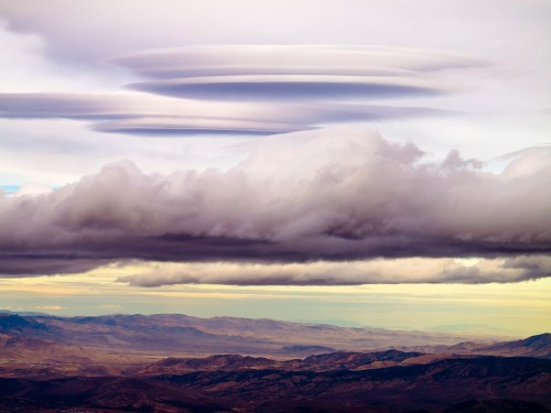 High layered clouds formed above the Carson Valley