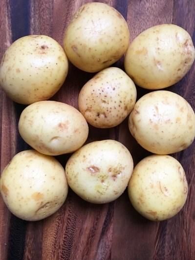 Salt Crusted Herb Potatoes