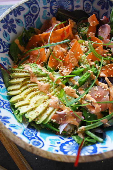 Brown Rice Sushi Roll Salad