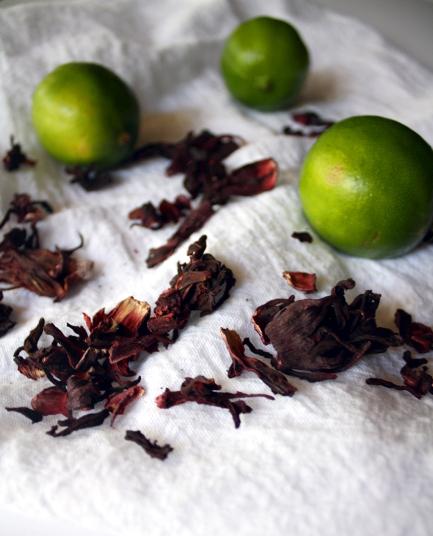 Hibiscus Lime Agua Fresca