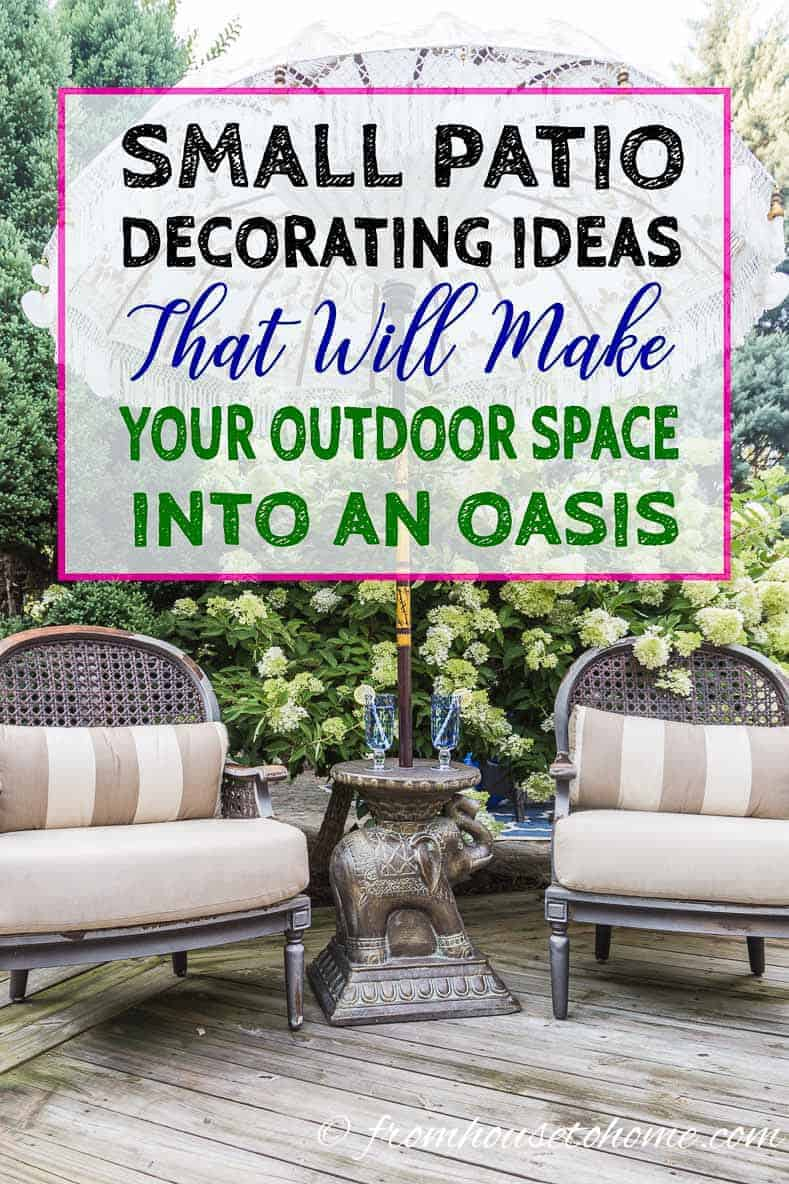 Small Patio Decorating Ideas That Make Your Deck Into An ... on Patios Designs  id=20195