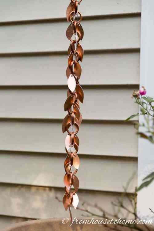 how to make a beautiful copper rain chain