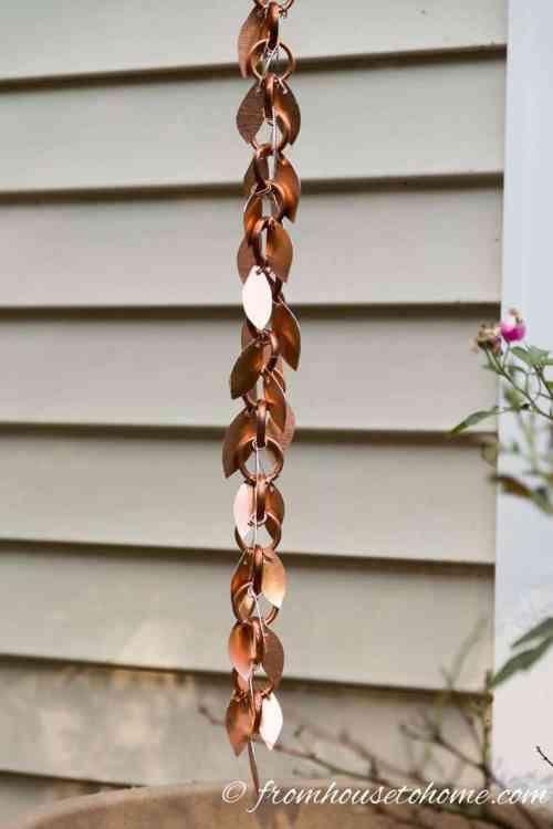 how to make a beautiful copper rain chain