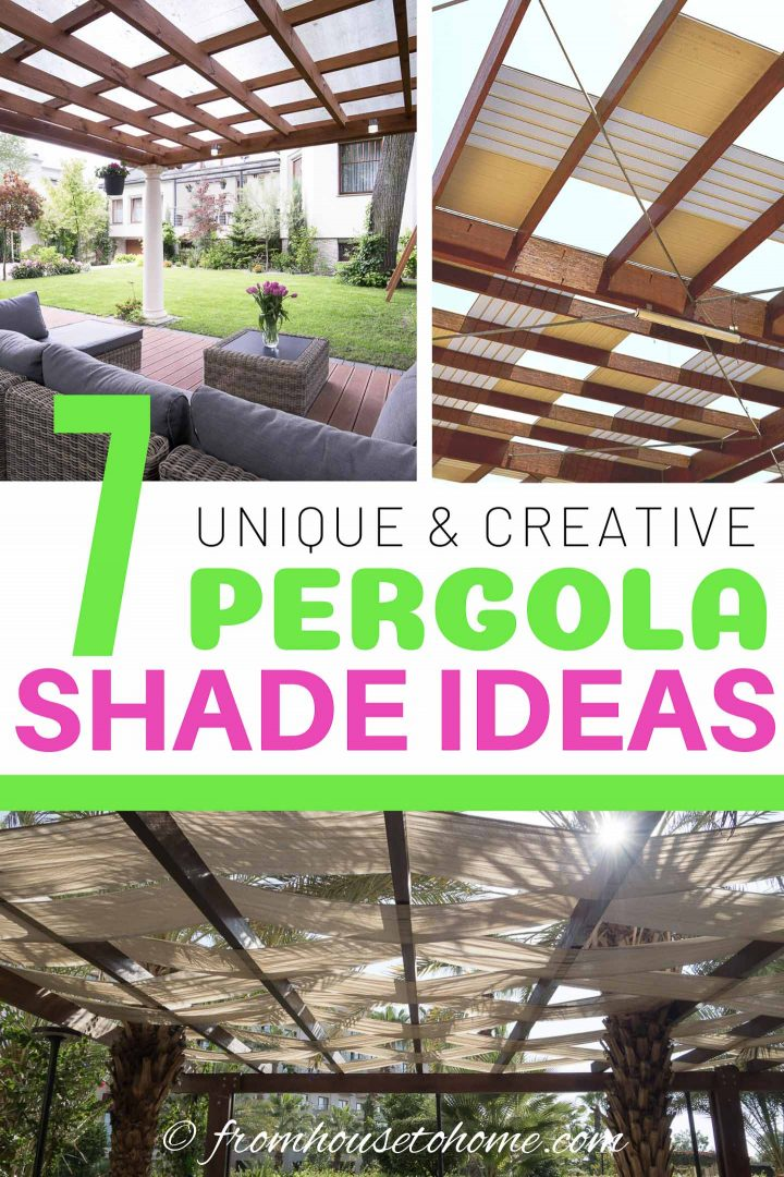DIY Pergola Cover Ideas: 7 Ways To Protect Your Patio From ... on Patio Cover Ideas For Rain id=23285